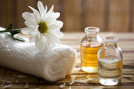 massage flacon et serviette